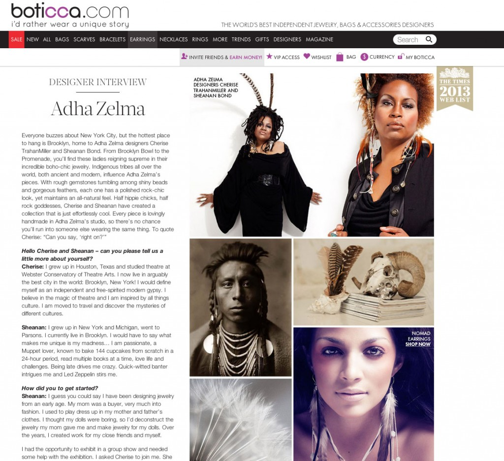 Gemstone jewelry with feather adornments created by Adha Zelma
