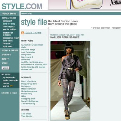 style.com and Adha Zelma