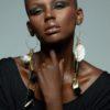 Adha Zelma Amun 24K Gold + Feather Earrings