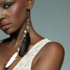 Atabey - Adha Zelma 24K Gold + Feather Earrings