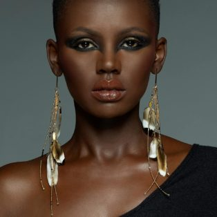 Adha Zelma Echo Feather Earrings