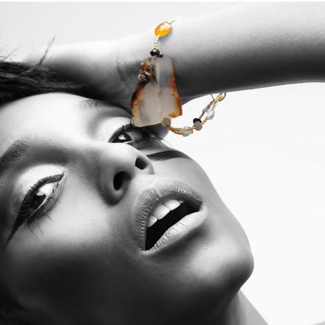 Big Rock Agate Bracelet by Adha Zelma