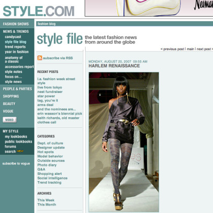 style.com and Adha Zelma